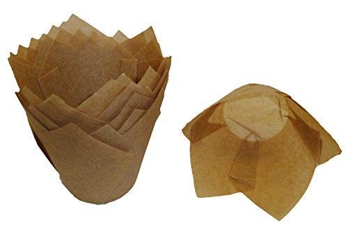 Scrumptious Sprinkles Lot de 200 papiers à Muffin en Forme de Tulipe en Papier Kraft