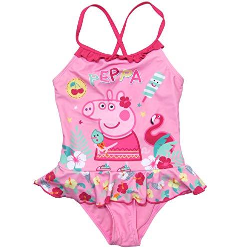 Peppa Wutz Badeanzug Mädchen Flamingo Peppa Pig (Rosa, 94/3yr)