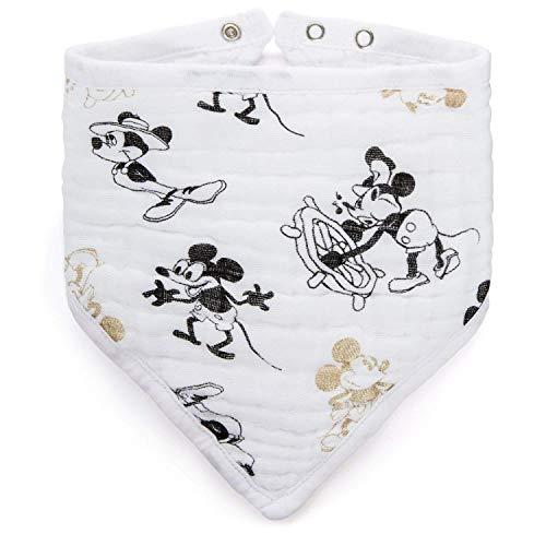 aden + anais™ Baumwoll-Musselin-Bandana-Lätzchen metallic Disney Baby - Mickey's 90th