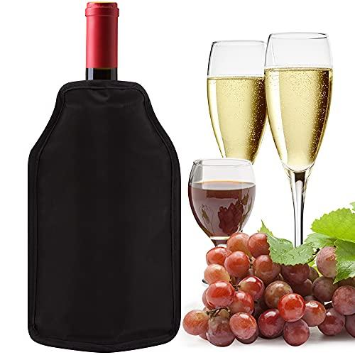 Funda enfriadora de vino, de gel de larga duración, para enfriar botellas de vino Prosecco, champán, cerveza, vino, enfriador de vino para cenas, barbacoas, pícnic