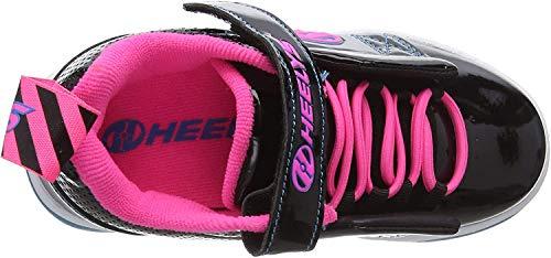 Heelys Mädchen Rift X2 Sneaker, Schwarz (Black/Neon Pink/Cyan Black/Neon Pink/Cyan), 33 EU