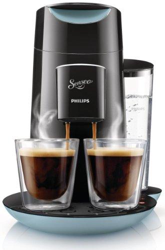 Philips Senseo Twist - Cafetera monodosis, color negro y azul ...