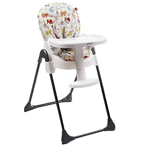 ALXLX Baby kinderstoel - Draagbare opvouwbare voerstoel met gordel gesp, baby eetstoel Booster stoel voor 0-6 jaar oude baby