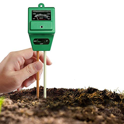 %7 OFF! JMsDream Soil PH Meter 3 in 1 Soil Moisture/Light/pH Tester for Garden Farm Lawn Indoor & Ou...