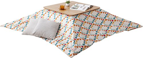 EMOOR Washable Kotatsu Futon Comforter Cover (Native-Orange), Rectangle-Type