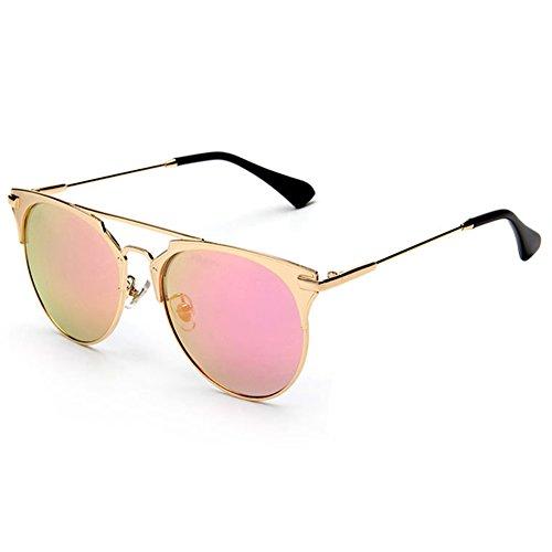 Botetrade Designer Sonnenbrillen For Damen So Mode Sonnenbrillen reales Gold/Pink