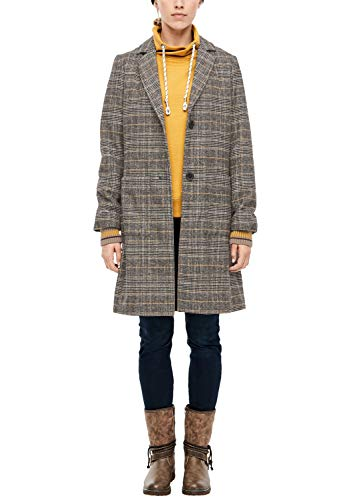s.Oliver RED LABEL Damen Wollmantel im Glencheck-Design yellow check 40