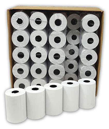 Lot de 50 - Bobine carte bancaire thermique 57 x 40 x 12 m -papier thermique pour CB 57 x 40 x 12 mm - Rouleaux machine carte (TPE)- marque UNIVERS GRAPHIQUE - TVA récupérable