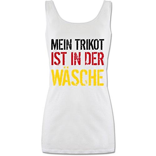 Shirtracer Fußball-Europameisterschaft 2021 - Mein Trikot ist in der Wäsche WM Deutschland - L - Weiß - Trikot - P72 - Tanktop für Damen und Frauen Tops