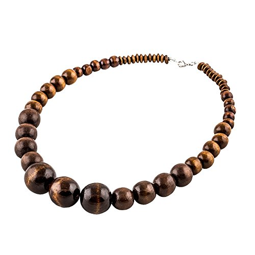 """Bien embalado en una bolsa de seda de """"EVBE"""" y un regalo secreto. - Puedes configurar el largo de la cadena tu mismo. - Tipo: collar de madera para hombre y mujeres, collar de perlas. Este accesorio moderno es especialmente ligero y muy cómodo de usa..."""