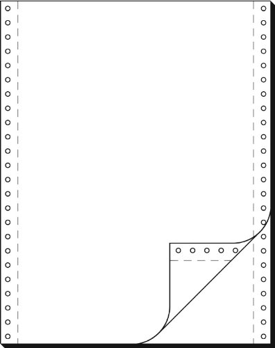 SIGEL 32242 Endlospapier 12 Zoll x 240 mm (A4 hoch), 60/57 g, 1000 Sätze LP, SD, 2fach