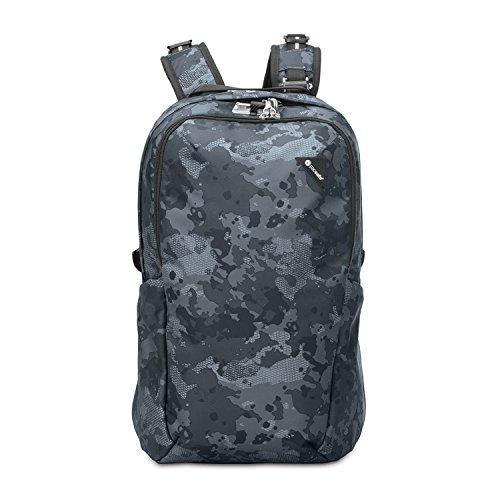 Pacsafe Vibe 25 - Anti-Diebstahl Backpack, Diebstahlschutz Daypack, Rucksack 25 Liter, Grau Camo/Grey Camo