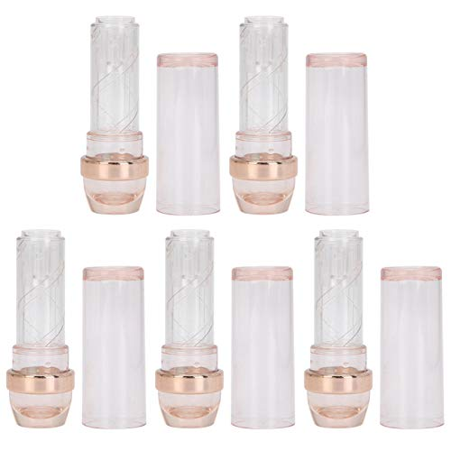 Tubos de lápiz labial vacíos, reutilizables, recargables, lápiz labial, brillo de labios, desodorante, estuche, profesional, para belleza, con gorra para mujeres, niñas, para viajes