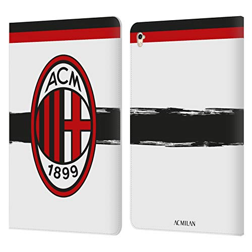 Official AC Milan Away 2018/19 Crest Kit Leather Book Wallet Case Cover Compatible For Apple iPad Pro 9.7 (2016)