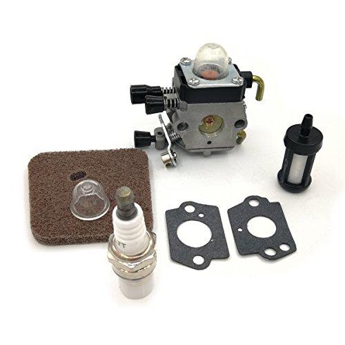 Cancanle Carburador bujía Filtro de Combustible Filtro de Aire lámpara de cebado para STIHL FS38 FS45 FS45C FS45L FS46 FS46C FS55 FS55C FS55R FS55RC KM55 HL45 Desbrozadora podadora