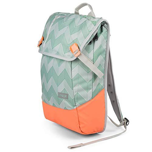 AEVOR Daypack - erweiterbarer Rucksack, ergonomisch, Laptopfach, wasserabweisend, Flicker Mint Coral