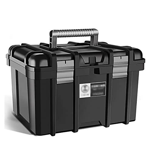 Caja herramientas almacenamiento Caja de herramientas de plástico Caja de herramientas portátil con bandeja extraíble para almacenamiento de artesanía Reparación de hardware para el hogar Organizador
