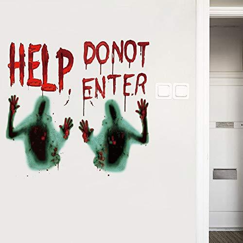 2 pegatinas autoadhesivas para la pared con diseño de zombie, Halloween, pegatinas autoadhesivas extraíbles