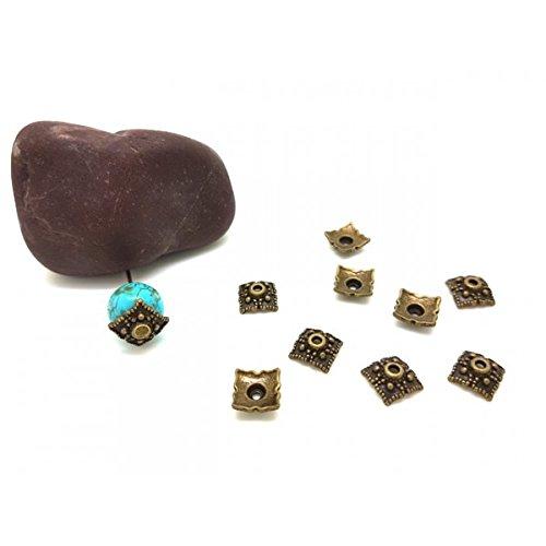 Creafirm 20 Calottes coupelles Bronze Forme carré 8x8mm