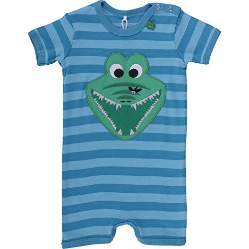 Fred'S World By Green Cotton Crocodile Stripe Beach Body, Bleu-Blau (Blue 017443200), 6 Mois Bébé garçon