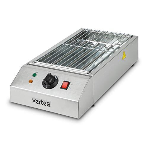 vertes griglia elettrica per barbecue 2500 watt (230 V, temperatura regolabile in continuo fino a 650°, superficie di grigliatura 425 x 235 mm, 1x griglia a griglia)