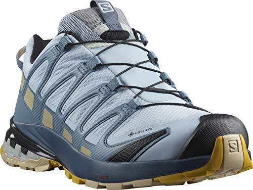 Salomon XA Pro 3D V8 W, Zapatillas De Trail Running Y Sanderismo Impermeables Versión Màs Ligera Mujer, Azul (Kentucky Blue/Dark Denim/Pale Khaki), 38 EU