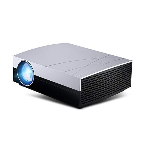 LZHYA Proyectores, Mini Proyector Portátil En Casa, Cine En Casa, WiFi Inalámbrico Smart LED 1080P, Disco U Conectable, Control Remoto