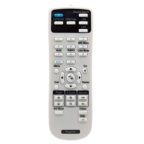 Aimple Mando a distancia para proyector Epson EB-S05 EB-U04 EB-U05 EB-U42 EB-W05 EH-TW5100 EH-TW5210 EH-TW5300 EH-TW5650...