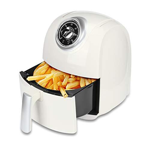 Freidora eléctrica Freidora sin aceite, Freidora de aire caliente Cocina sin aceite Asado rápido Antiadherente 3.2L Freidora de gran capacidad para cocinar papas fritas de pollo 1400W(Prise UE)