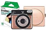 Fujifilm Instax Square SQ6 Kit d'appareil Photo instantané avec 10 Prises de Vue et étui pour Appareil Photo Doré