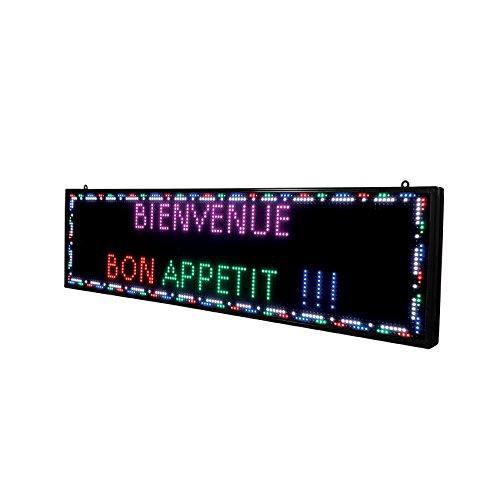 Ecran programmable LED couleur intérieur de dimensions97 x 24 cm