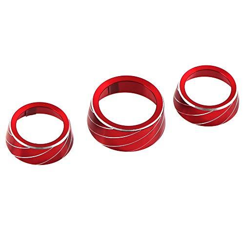 Iycorish 3 Piezas/Juego Perilla de Aire Acondicionado Cubierta de Perilla Circle AC DecoracióN del BotóN del Interruptor de Salida de Aire para Charger 2015-2020