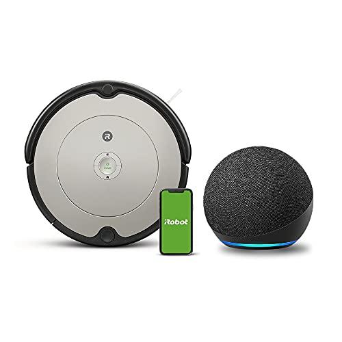 【セット買い】Echo Dot (エコードット) 第4世代 チャコール ルンバ 692 アイロボット ロボット掃除機 Alexa対応モデル