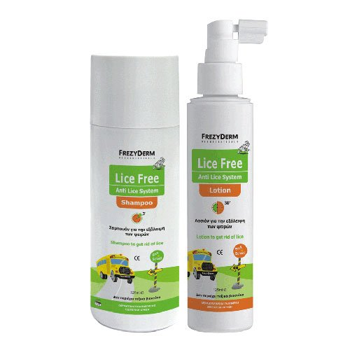 FREZYDERM LICE FREE SET (SHAMPOO 125ml + LOTION 125ml + TOOTHED COMB)
