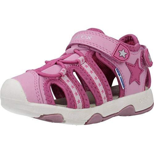 Geox Mädchen B Multy Girl A Sandalen, Pink (Fuchsia/Dk Pink C8n8f), 23 EU