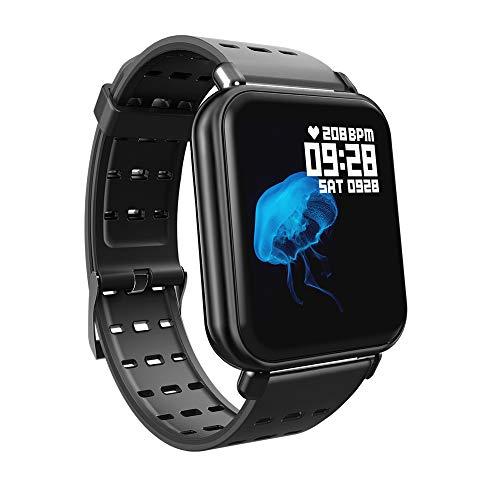 YANGLIUYL Bluetooth Inseguitore Di Fitness,Impermeabile Fitness Tracker,Gps Activity Tracker,Reale-tempo Frequenza Cardiaca E Monitoraggio Della Pressione Sanguigna Nero