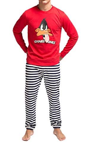 GISELA Pijama para hombe del Pato Lucas 2/1650 - Rojo, M