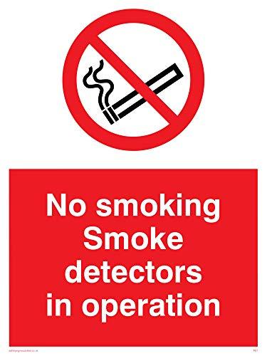 Viking Signs PS7-A1P-AC'No Smoking Smoke Detectors In Operation' Sign,...