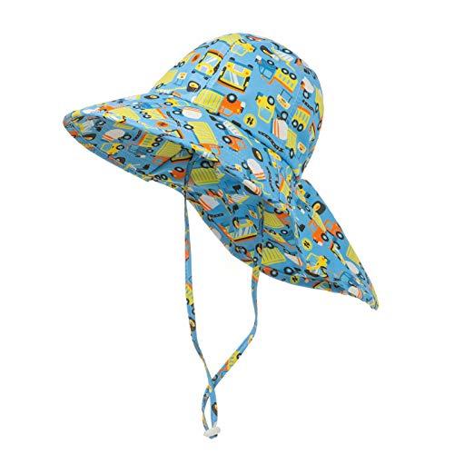 Sombrero para el Sol Niños Gorra Pescador de Bebé Sol Protección Algódon Unisexo Gorro Ajustable Plegable Estapado Estrella Verano UV Hat,Verde