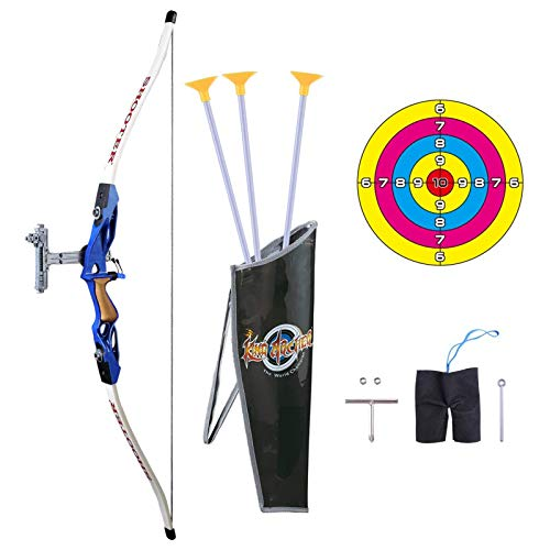 Juego de arco y flecha Pickwoo Archery 1 / 1.8 Arco para niños, juego de juego de arco y flecha para niños y niñas, juego de tiro con arco para principiantes con objetivo, tiro de caza arco pa