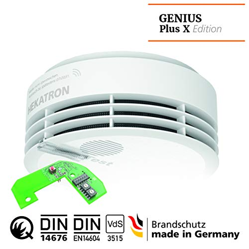 Hekatron 31-5000030-02-01 weiß Rauchmelder, Genius Plus X 3V, Single Pack inkl. Funkmodul