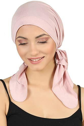 Deresina Vorgebunden Tücher der Baumwolle für Haarausfall, Krebs (Powder Pink)