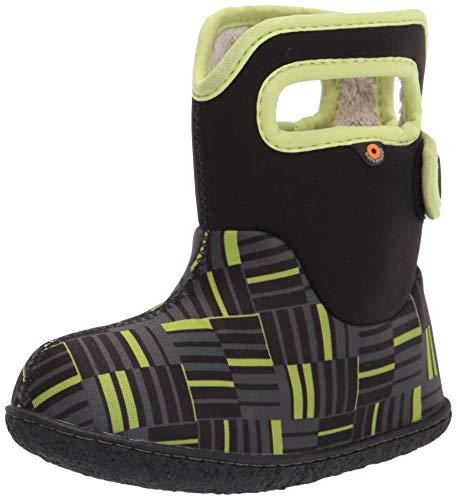 BOGS Baby Waterproof Snowboot Rain Boot, Phaser II-Black, 10 US Unisex Infant