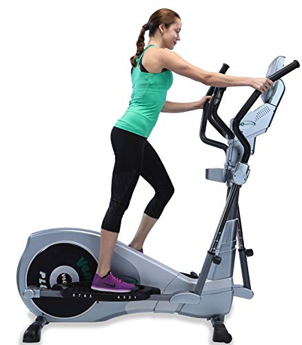 """GOELLIPTICAL V-600 Standard Stride 17"""" Programmable Elliptical Cross Trainer - Cardio Fitness Strength Conditioning Workout for Home or Gym Exercise"""