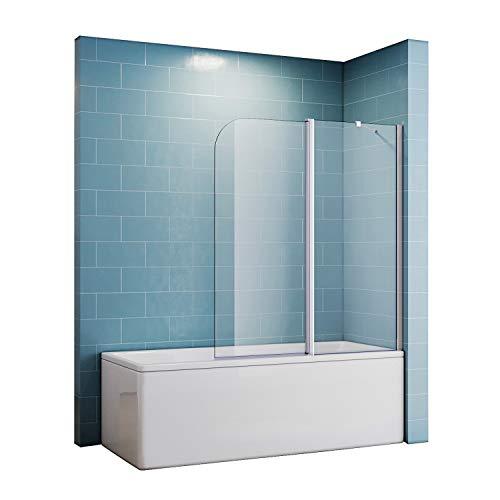 Duschtrennwand für badewanne 120x140 spritzschutz Duschwand