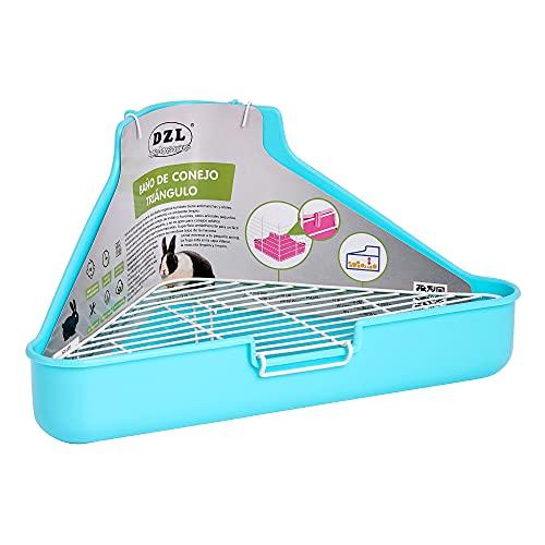 SMELL & SMILE Arenero de plástico de Conejo para Mascotas Entrenador de Orinal fácil de Limpiar esquineras Conejos Color Aleatorio (SOY0090) ✅