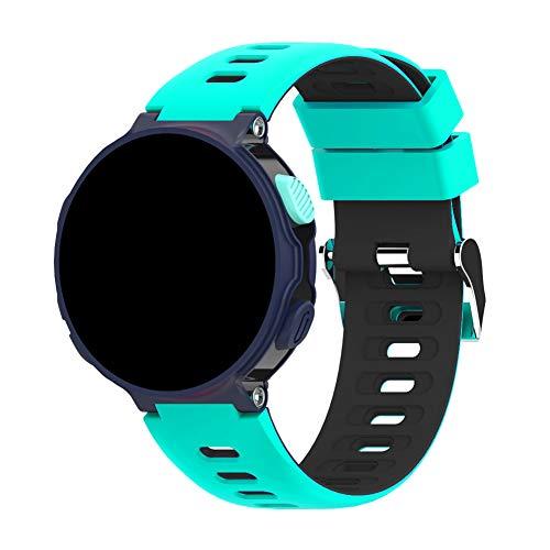 Awfand Compatível com Garmin Forerunner 235 235,220 230 620 630 735XT Pulseiras universais de silicone macio, pulseira de 22 mm para uso diário