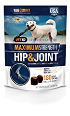 Vet Recommended Joint Supplement For Dogs: Vet Recommended, Made In The Usa Total Hip And Joint Health For Your Dog: The Vetiq Max Strength Hip And Joint Supplement For Dogs Comes With 180 Chews Per Bag That Promote Total Joint Health For Your Dog Om...