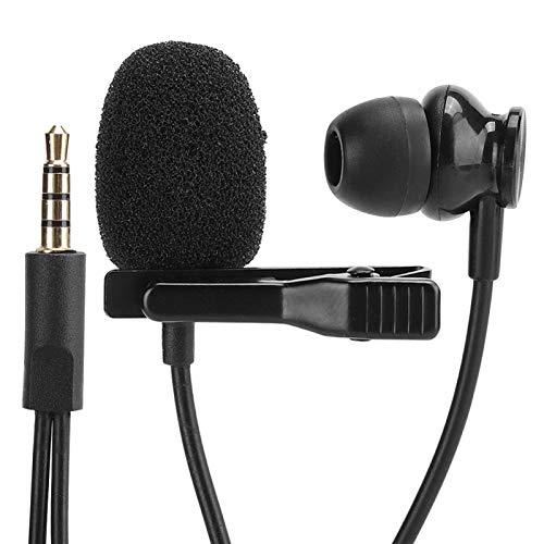 DAUERHAFT Cómodo micrófono para teléfono móvil con Mini Clip de Corbata, para iOS, para grabación de entrevistas