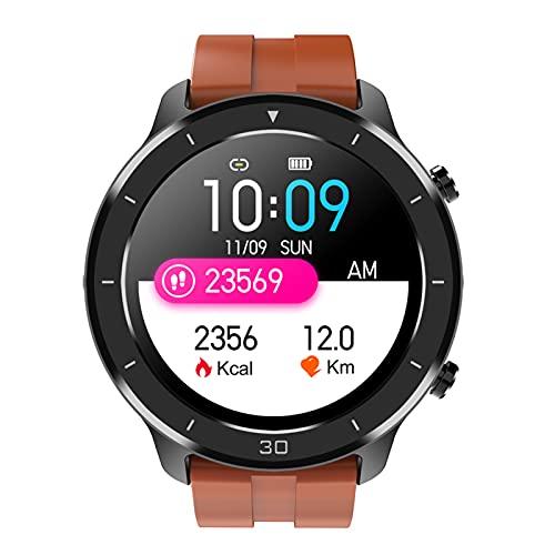 HQPCAHL Reloj Inteligente Smartwatch Impermeable IP68 Pulsera Actividad con Pulsómetro Monitor De Sueño Pantalla Táctil Completa Reloj Deportivo para Android iOS,Naranja